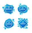 natural spring water logo labels and stickers vector image vector image