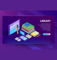 online library in smartphone vector image