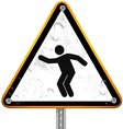 Pictogram street signs 24 vector image vector image