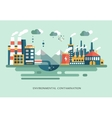 Pollution urban landscape the plant with pipes vector image vector image