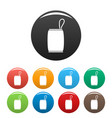 protect bag icons set color vector image