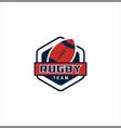 ruglogo american sport stock vector image vector image