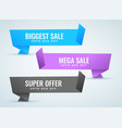 sale banners set in origami style vector image vector image