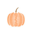 scribble pumpkin design template isolated vector image vector image