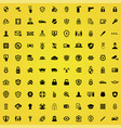 security 100 icons universal set for web and ui vector image vector image
