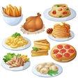set food icons isolated on white background vector image vector image