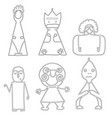 set of dolls abstract human symbols vector image vector image