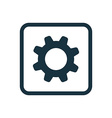 settings icon Rounded squares button vector image