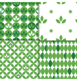 spring leaves patterns vector image
