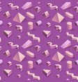 trendy abstract memphis seamless pattern vector image