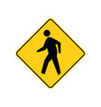 usa traffic road signs pedestrian crossing ahead vector image