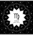 virgo zodiac signs outline style set on vector image