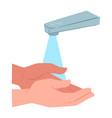 washing or rinsing hands with water personal vector image