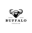 water buffalo head logo icon vector image
