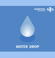 water drop icon isometric template vector image