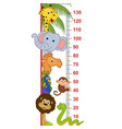 zoo animal height measure vector image vector image
