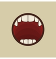 Open Vampire Mouth with Teeth vector image
