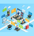 distance learning infographic concept vector image