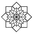 arabic geometric ornament black and white vector image vector image