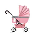 baby carriage with pink layette vector image vector image