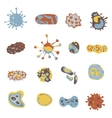 Bacteria and Virus icons set Bacteria under vector image