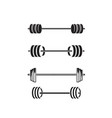 barbel dumbbell gym icon logo template vector image vector image