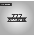 black and white style jackpot Lucky seven vector image vector image