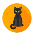 black cat flat vector image vector image
