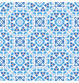blue flower tile pattern boho ornament vector image vector image