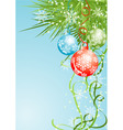 Christmas background with baubles vector vector image