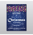 christmas evening poster vector image vector image