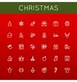 Christmas Line Icons vector image