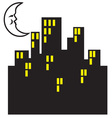 City Lights vector image vector image