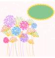 Colorful Hydrangea Flower Garden Party vector image vector image