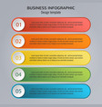 colorful infographic template for business vector image