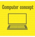 Concept office computer vector image