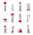 cosmetics package icons vector image vector image