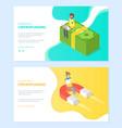 crowdfunding online attracting money web vector image vector image