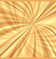 curved ray burst background - design from curved vector image vector image
