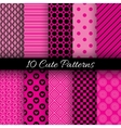 cute abstract geometric bright seamless patterns vector image vector image
