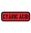cyanic acid stamp on white vector image
