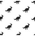 dinosaur parasaurolophus icon in black style vector image vector image