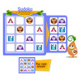 educational game sudoku shapes vector image vector image