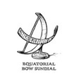 equatorial bow sundial vector image vector image