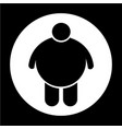 fat people icon vector image