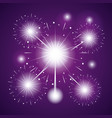 fireworks celebration scene background vector image