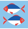 Fish flat style vector image