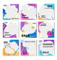 flat banner set for instagram promo stories vector image vector image