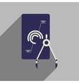 Flat web icon with long shadow infographics vector image vector image