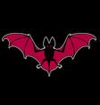 flying bat stylized animal drawing vector image vector image